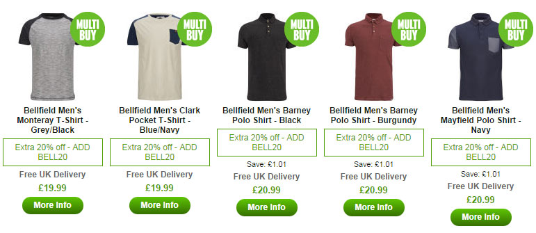 Bell Field Top on Zavvi.com