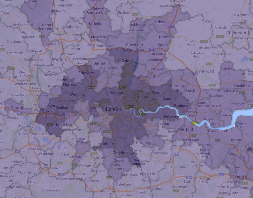London - Child Poverty Map