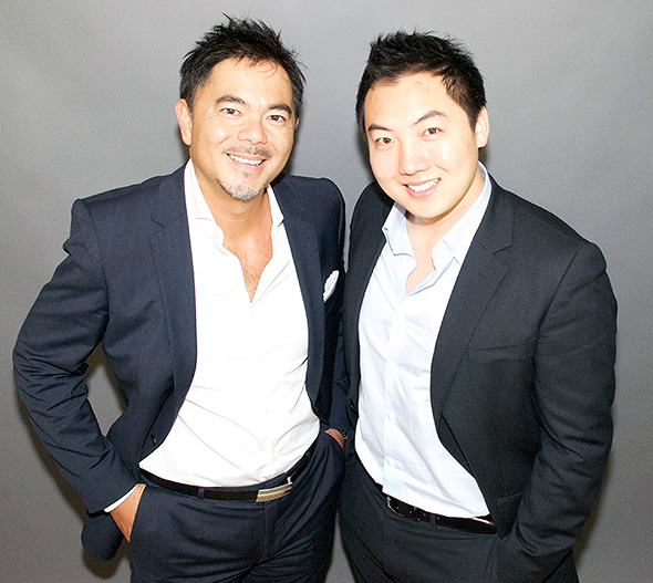 Left, Vincent Wong (Chief Operating Officer), right, John Lee (Chief Executive Officer)