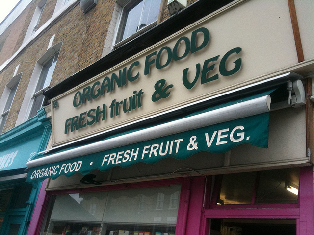 Organic fruit and veg shop