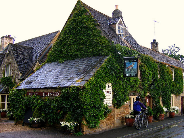 The Fox Inn in Lower Oddington in the Cotswolds