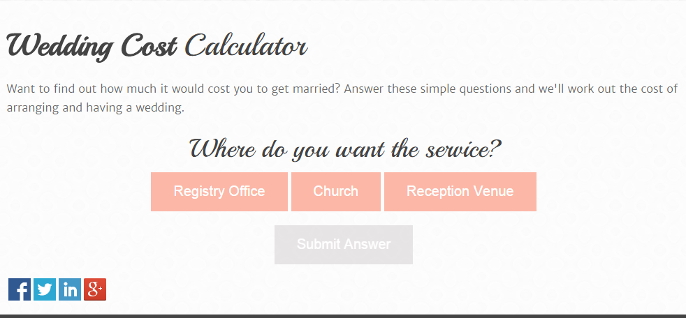 How To Budget For The Big Day - Wedding Cost Calculator