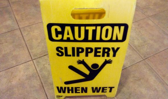 How To Make Your Business Premises Safer - Caution Wet floor Sign