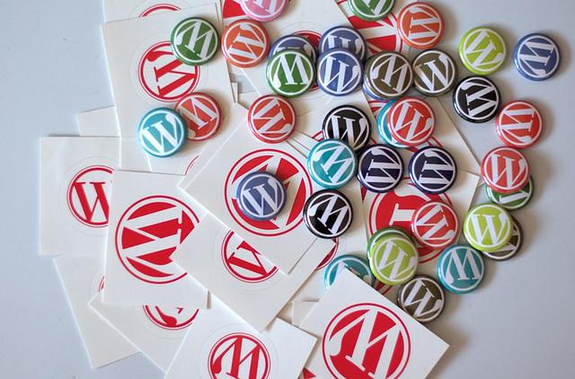 WordPress (web design software) branded goodies