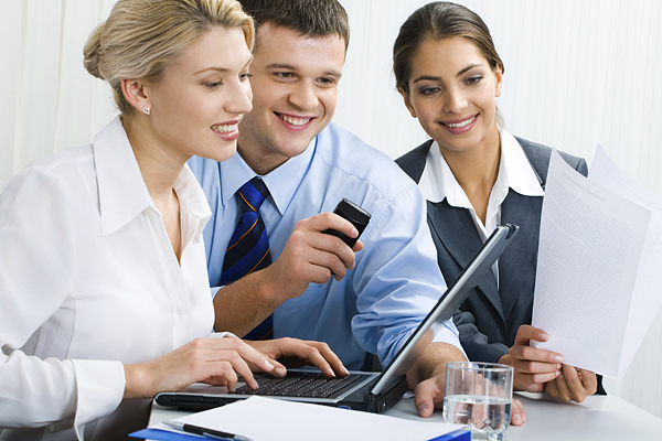 How To Keep Your Employees Happy - Business Colleagues With Laptop